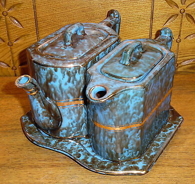 Wades England Pottery Teapot & Pitcher & Underplate - 3 Chips