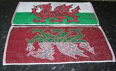 WALES Bar Towel Official WELSH Dragon National Flag 100% Cotton FREE POST UK