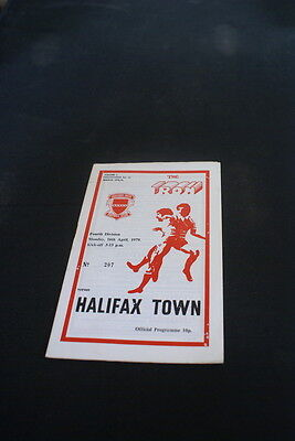 Scunthorpe United V Halifax town 16 April 1979