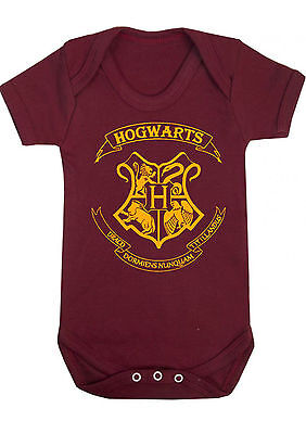 BABY BOY,GIRL,HARRY POTTER Hogwarts VEST,BABYGROW,ROMPER,GIFT,BABY CLOTHES