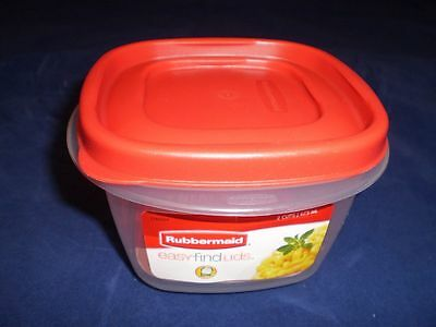RUBBERMAID 2 CUP Easy Find Lid Square Food Storage Container 1777085
