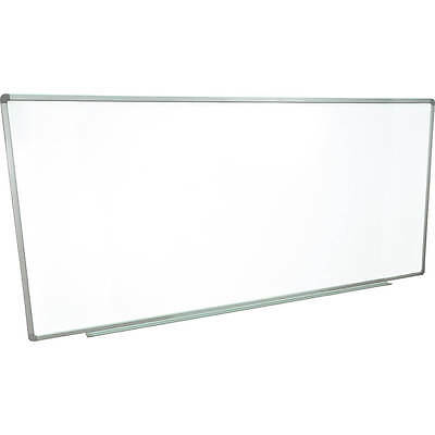 """Luxor Dry Erase Whiteboard 96"""" X 40"""", Magnetic, Wall Mounted Silver Frame"""