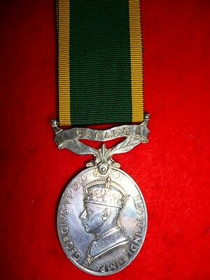 Canada Territorial Force Efficiency Medal to Royal Canadian Ordnance Corps