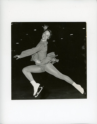 Carole Heiss Vintage silver print,Carol Heiss, est une ancienne patineuse arti
