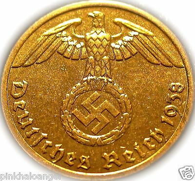 Germany - German 3rd Reich - German 1938A Reichspfennig Coin  - WW2  Rare Coin