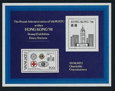 1994 Vanuatu Charities/hong Kong '94 Minisheet Fine Mint Mnh/muh