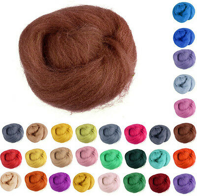 Wool Roving Spinning Corriedale Needle felting Dyed Wet Felting Craft A+++ Fiber