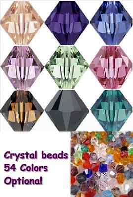 More than 50 colors optional 100pcs Swaro-element 4mm Bicone Loose crystal beads