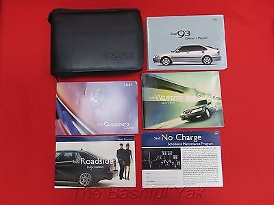 2001 Saab 93 Owners Manual with Case
