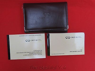 1999 Infiniti I 30 Owners Manual with Case