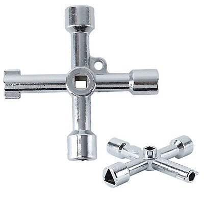 5 In 1 Cross Key Tool For Train Electrical Cabinet Elevator Alloy New Sterling