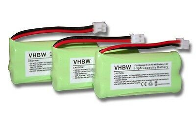 3xBatteries pour Siemens Gigaset A140 TRIO / A140 weib / A140 DUO / A145 / A160