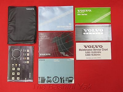 1989 Volvo 740 Owners Manual with Case