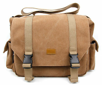 Large Vintage Tan Brown Canvas Carry Bag / Case for Fujifilm X-T2 Camera