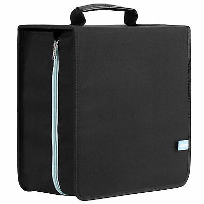 416 Sleeve CD DVD Disc Storage Holder Wallet | Portable Carry Case with Handle