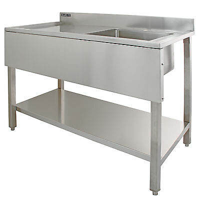 Commercial Sink Stainless Steel Catering Kitchen Single Bowl 1.0 Unit ...