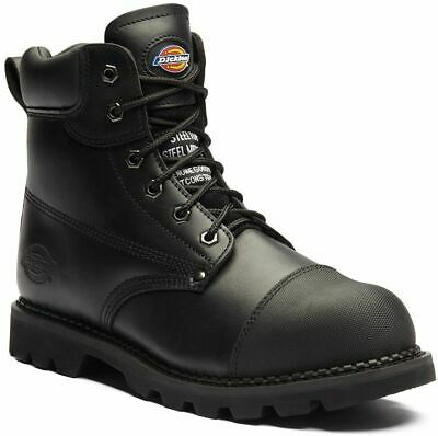 Dickies FD9210 Crawford Brown Leather Steel Toe Cap Safety Work Boots Shoes Size