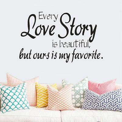 Our Love Story Removable Vinyl Decal Art Mural Home Decor Quote Wall