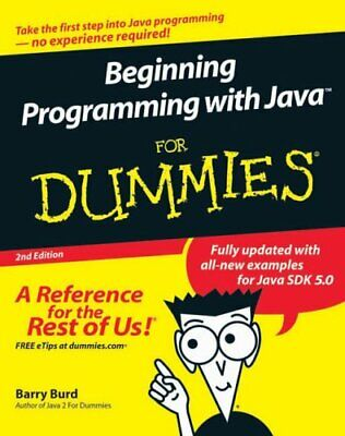 Beginning Programming with Java For Dummies by Burd, Barry Paperback Book The