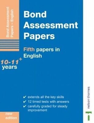 Bond Assessment Papers: Fifth Papers in English 10... by Lindsay, Sarah Pamphlet