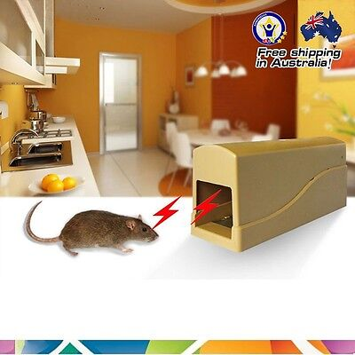 Waterproof Outdoor Electronic Shock Mouse Rats Killer High Voltage Trap*Certific