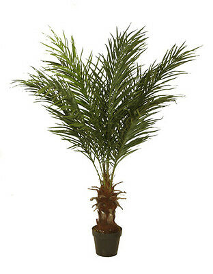 2 Best Artificial 4ft 120cm Potted Phoenix Palm Trees Tropical Conservatory new