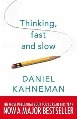 Thinking, Fast and Slow, Kahneman, Daniel Book The Cheap Fast Free Post