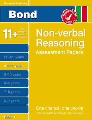 Bond Non-verbal Reasoning Assessment Papers 10-11+ by Alison Primrose 1408517000