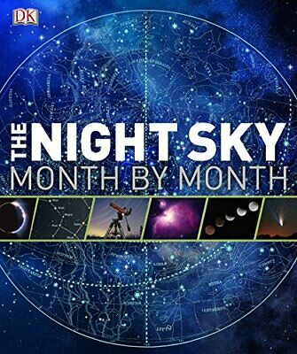 The Night Sky Month by Month (Astronomy) by Giles Sparrow Hardback Book The