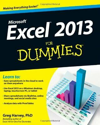 Excel 2013 for Dummies, Book by Harvey, Greg Book The Cheap Fast Free Post