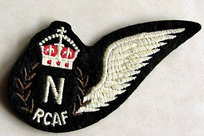 RCAF Royal Canadian Air Force Navigator Wing Crest Badge WWII Replica