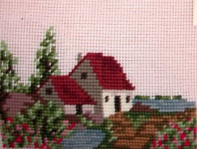 EP 2617/4 Small Summer Cottage Preworked Needlepoint Canvas