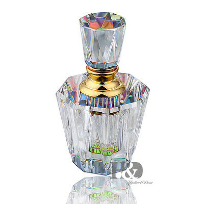 AB Color Base Clear Empty Refillable Crystal Perfume Bottle Wedding Table Decor