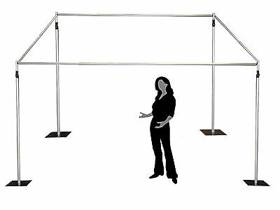 1.5-2.4m high / wide - telescopic photobooth background stand kit support stand