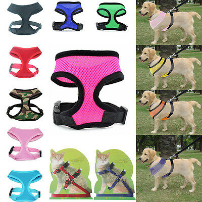 Nylon Pet Dog Cat Hot Adjustable Vest Harness Collar Puppy Strap Mesh Breathable