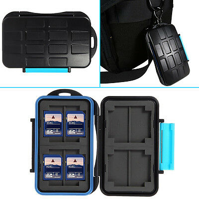 1X Waterproof Extremely Memory Card Case MC-2 for 4 CF cards 8 SD cards