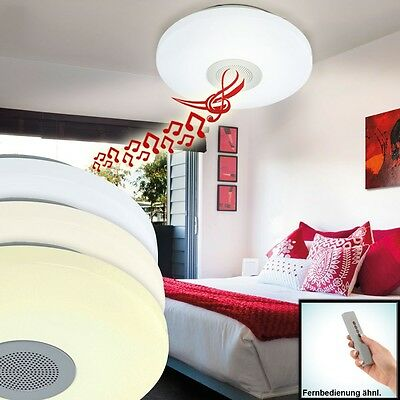LED Audio Decken Lampe MP3 Lounge Leuchte Dimmer Bluetooth Fernbedienung 21 Watt