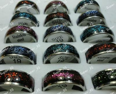10pcs Wholesale Lots Top Stainless Steel Enamel Fashion Rings Free Shipping