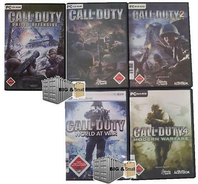 Call of Duty PC - nur 1 Spiel auswählen - CoD 2 Modern Warfare World at War