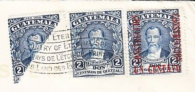 Guatemala City 1941 BISECT Both Sides UDL Whiskies Viceroy Tobacco Cover 3w