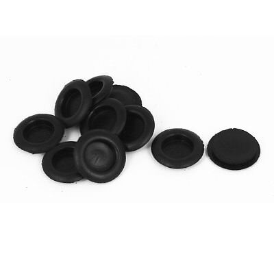 10pcs Black Rubber Closed Blind Blanking Hole Wire Cable Gasket Grommets 20mm