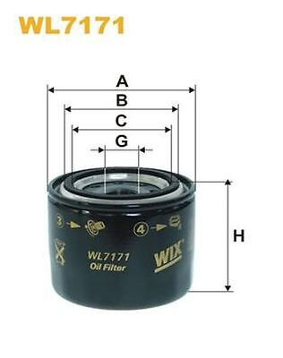 To Clear - New Oe Quality Wix - Oil Filter - Wl7171