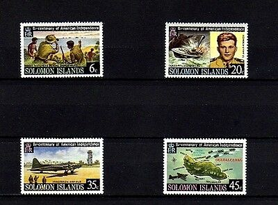 Solomon Is - 1976 - Bicentennial - Kennedy - Pt-109 - Ww Ii - 4 X Mint  Mnh Set!