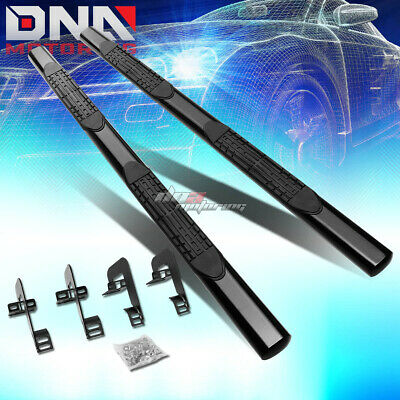"For 04-14 Ford F150 Ext/super Cab Stainless 4""oval Black Side Step Nerf Bar Kit"