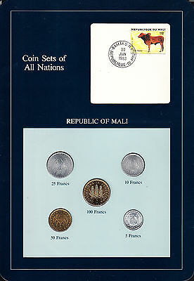 Republic of Mali - Type Set of Coins 1970's
