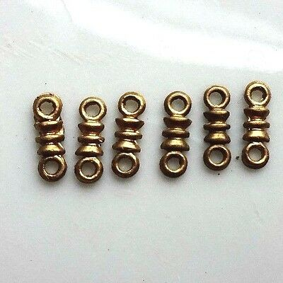 Vintage Brass Connectors,Antique Brass Ox Banana Bob Ornate Two Loops NOS #1492U