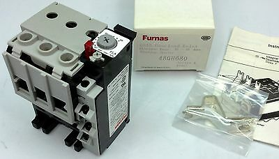 Furnas 48Gh680 Overload Relay 50A-68A Adjustable Range New In Box