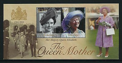 2002 Tokelau The Queen Mother Memorial Minisheet Fine Mint Mnh/muh
