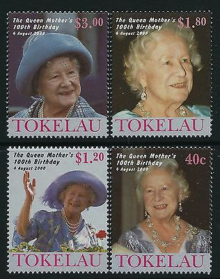 2000 TOKELAU THE QUEEN MOTHER'S 100th BIRTHDAY SET OF 4 FINE MINT MNH/MUH