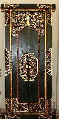 BALINESE Door Hand Carved Wood Bali Architectural Art Home Decor Indonesia